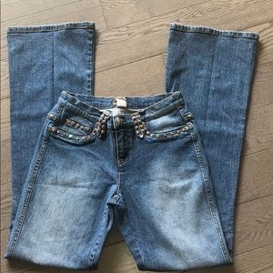 Cache bling bling boot cut jeans
